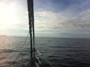 Our last Anchorage on the horizon